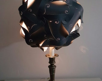 "12""14"" & 15 "" Le Elegance Pierced Entwined Panels Lamp Shade"