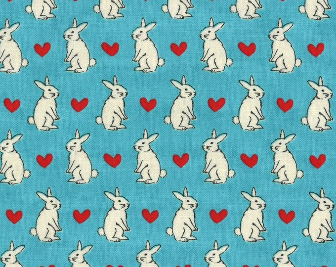 Radiant Girl Fabric by Lecien - Bunny L49181-70 Blue