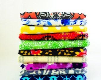 10 Ladies Handkerchief - Mothers Day Gift - Mixed Modern Flannel Handkerchief - Reusable Tissues - Hankies - Soft - Eco Friendly - 9 x 10