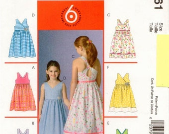 McCall's UNCUT Pattern M4761 - Children's Summer Dresses with Neckline and Strap Variations, Self-Line Bodice, & Gathered Skirt - 3-6