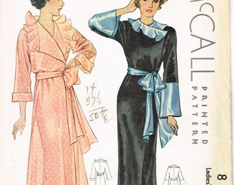 VINTAGE McCall 1933 Copyright Pattern COVER only Ladies Misses Full Length NEGLIGEE Robe Dressing Gown Bathrobe Size 14