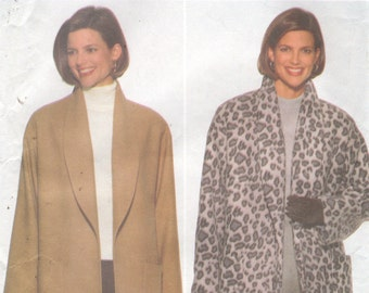 Butterick 5298 1990s Fast and Easy Misses JACKET Pattern Womens Sewing Pattern Size 8 10 12 Bust 31 32 34 OR 14 16 18 Bust 36 38 40