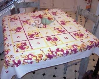 Vintage Tablecloth Fab Fruit Blocks