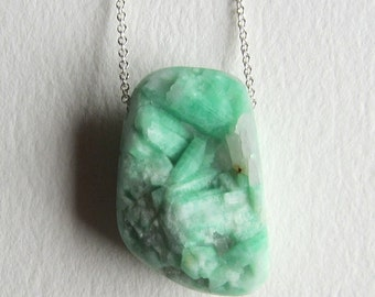 Quartz with Green Gemstone Inclusions - Made in Seattle
