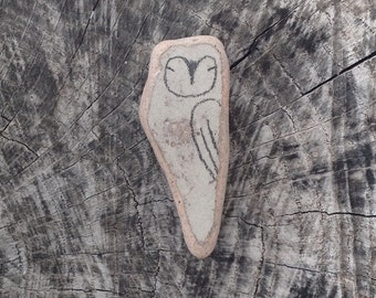 Beach Pottery Owl - Totem, Animal Medicine, Spirit Animal, Peace, Peaceful