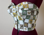 1950s Millworth novelty print sun top MED 38 bust