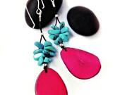 Elegant Tagua Earrings - Sterling Silver / Eco Jewelry