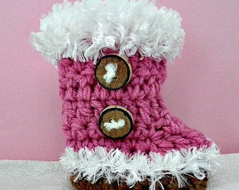 Fluff Cuff baby booties crochet pattern,  num. 921,  newborn to 12 months,  sell your finished booties, instant digital downloads