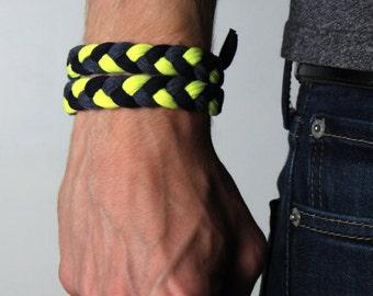 Yellow Bracelet, Neon Yellow Bracelet, Neon Bracelet, Neon Jewelry, Neon, Neon Cuff, Yellow Cuff, Neon Wrap Bracelet, Yellow Wrap, Bracelet