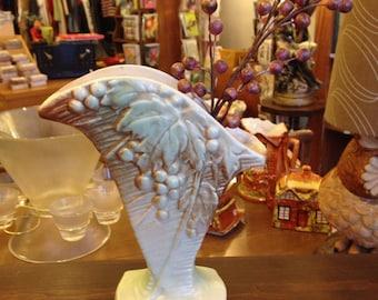 McCoy Grape Pattern Fan Vase