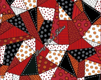 Crazy Quilt Pattern Fabric : Crazy quilt pattern Etsy