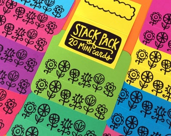 Instant Garden Stack Pack (20 mini cards/tags)