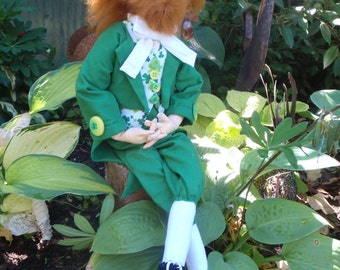 Cloth Doll Print Pattern  - Murphy - Irish - Leprechaun
