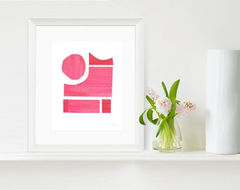 Minimalist Art Print, Contemporary Wall Art, Abstract Art Print, Modern Art Print