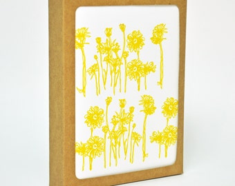 Hand Printed Flowers - Boxed Set of 6 Cards