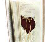 Heart Ring Book The Neverending Story Hollow Book Handmade Ring Holder Proposal Engagement Wedding Ring Holder Ring Pillow - CUSTOM ORDER