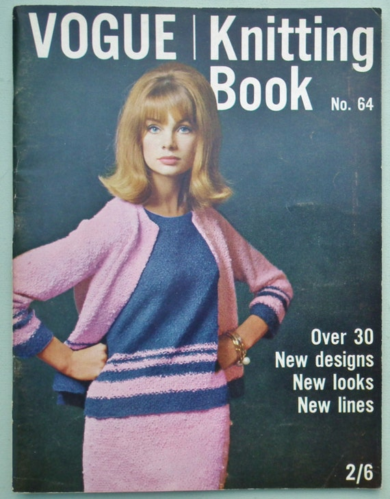 Vintage Vogue Knitting Pattern Books : Vogue Knitting Book No 64 1964 UK Vintage by sewmuchfrippery