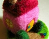 Needle Felted Little House - You Choose the Colors