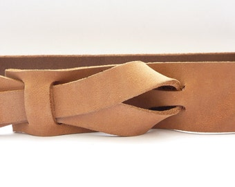 Safari Outback Taupe Leather Belt by Muse  1.5 inch / Nickel Free / Free Shipping