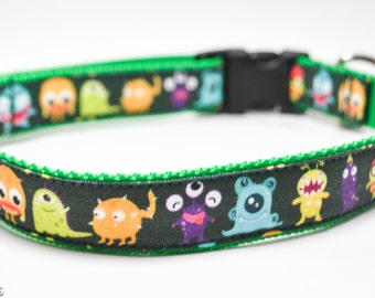 Big Monsters Dog Collar / Monster Squad / Aliens Dog Collar