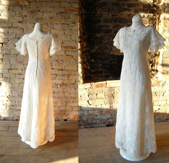 Wedding Dresses Boston: 1960s Wedding Dress Priscillas Of Boston Dress Alcenon