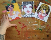 Ladies of Country Music 5x7 postcard set (3) Dolly Parton Kitty Wells Patsy Cline