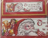 "Christmas Cross Stitch Kit  Janlynn #13-206 Twas The Night Before Christmas  Finished Size: 24"" x 6"" (60.0 x 15.2cm)"