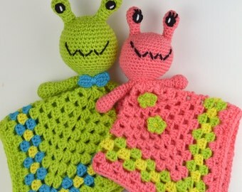 Crochet pattern Baby Lovey (snuggle buddy, bankie, security blanket, lovie) Alien for babies and toddlers shower gift INSTANT pdf DOWNLOAD