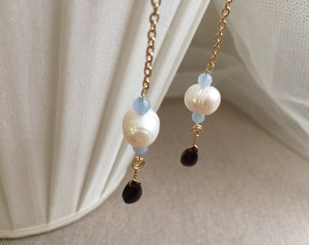 Fresh Water Pearls Dangle Earrings, Party Fun Accessories, Wedding Party Jewelry, Bridesmaids Accessories