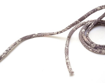 KOFU cord 5mm - made with antique Kimono, silk, 1m, color Gray