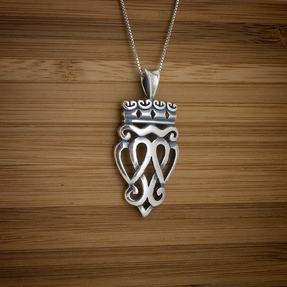 Scottish Luckenbooth Pendant - STERLING SILVER - (Pendant, or Necklace)