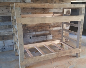 YOUR Made to Order Barn Wood Bunk Bed FREE SHIPPING - BWBB975D