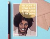 Whitney Houston Postcard - 90s Nostalgia - My Love Is Your Love