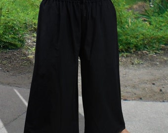 Men's Pants, Pirate Pants, Black Pants, Drawstring Pants, Cotton Pants, Swashbuckler Pants, Renaissance Pants, Costume Pants, XXL