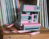1980's Pink Polaroid Cool Cam 600 Film Camera - Film-Tested & Working!