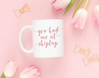 shiplap mug, fixer upper decor, joanna gaines coffee mug, coffee mugs with sayings, decorator gift idea, hashtag mug, mug quote, DIY gift