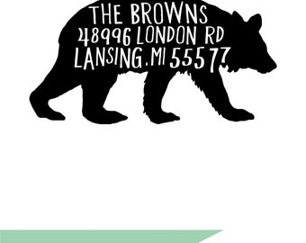 Bear Return Address Stamp