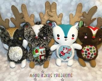 Personalized Plush Reindeer / Stuffed Animal