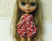 Shark Fish Red Romper for Blythe doll 2