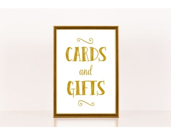 Cards and Gifts Sign, Wedding Sign, Downloadable Print, Printable Sign for Wedding, Wedding Gifts Sign, Wedding Reception
