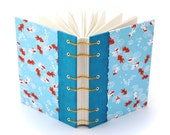 Goldfish Journal, Coptic Stitch Blank Book, Gift for a Writer, Lay Flat Journal