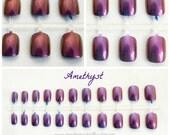 Duochrome Short Fake Nails, Color Shift Nails, Chameleon Nails, Short Fake Nails Choose Your Color, Color Shift, Color Changing Fake Nails