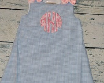 Circle Applique Personalized ALine Dress personalized Jumper