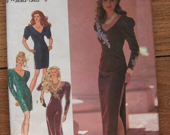 VIntage Style pattern 2193 Misses evening dress 2 lengths sz 8-14