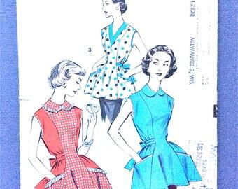 Advance 8465 1950s Apron Cobbler Apron Vintage Sewing Pattern Size Medium