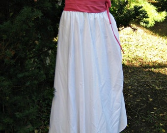 size 9 ball gown, White lace dress, Southern bell gown or JANE Austen Dress era style to Downtown Abbey dress