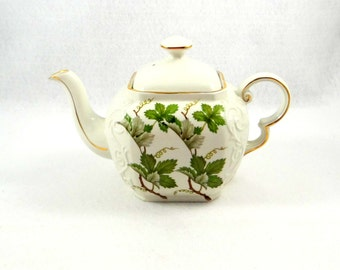 Vintage Wood and Sons Teapot with Grape Vine Design