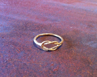 ZG-R-38 Infinity Ring made in gold filled