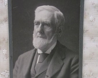 Antique Cabinet Photo-Older Man-Gray Beard-Hair-ID'd Seeley-Hartford,CT-1896