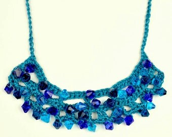 Beaded Arc Necklace - PDF Crochet Pattern - Instant Download